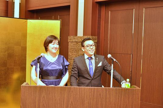カターレ富山キックオフパーティー2015_おめかしした久世さんと土田さん